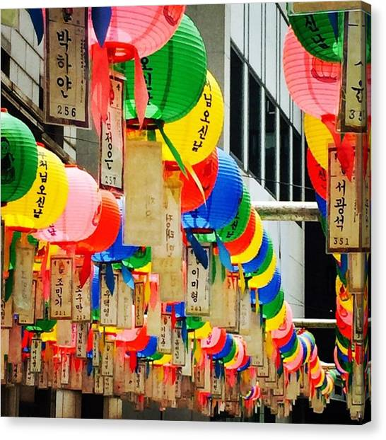 Korean Canvas Print - Korean Lanterns by Nancy Ingersoll