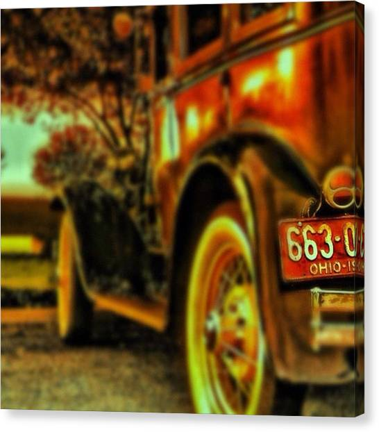 Cool Canvas Print - I Love This #classiccar Photo I Took In by Pete Michaud
