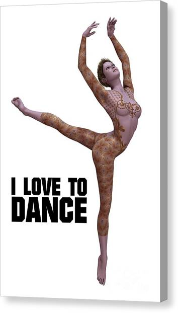 Boobies Canvas Print - I Love To Dance by Esoterica Art Agency