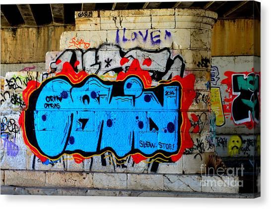 I Love                    ' Graffiti ' Canvas Print by Urban Artful