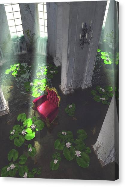 Rebirth Canvas Print - I Love What You've Done With The Place by Cynthia Decker