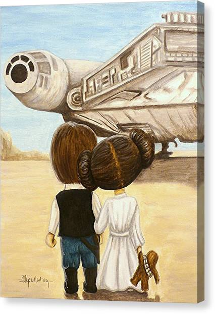 Science Fiction Canvas Print - I Love You     I Know by Al  Molina