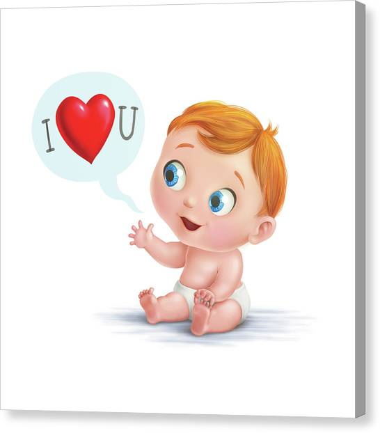 I Love You Baby  Canvas Print