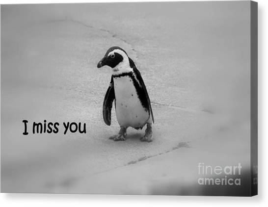 Canvas Print featuring the photograph I Miss You by Patti Whitten