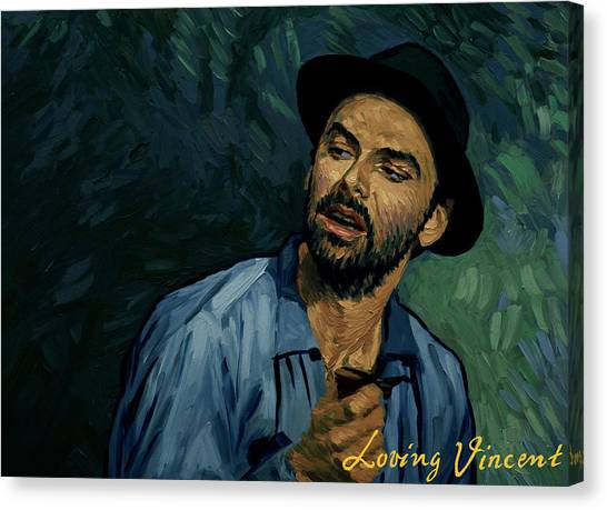 Vincent Van Gogh Canvas Print - I Never Got To Speak A Word With Her by Tetiana Ocheredko