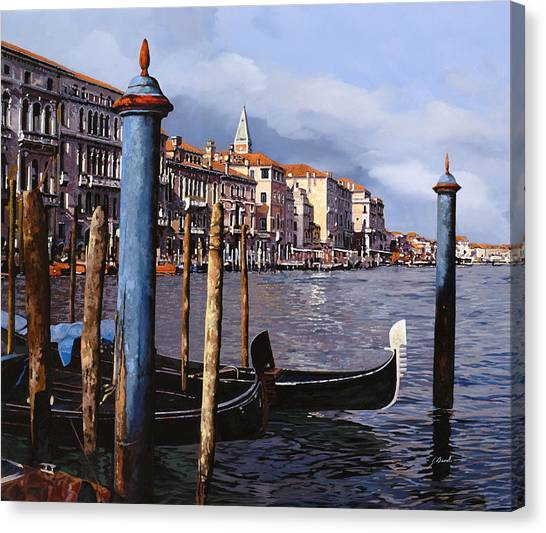 Dock Canvas Print - I Pali Blu by Guido Borelli