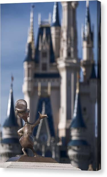 I Present You Cinderella's Castle Canvas Print