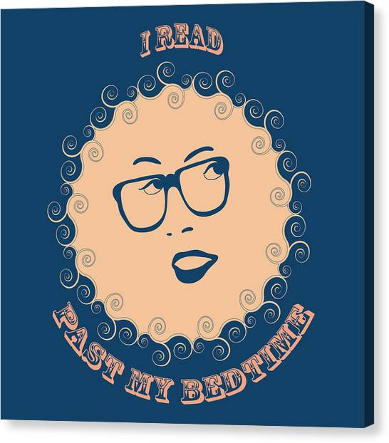Night Shirts Canvas Print - I Read Past My Bedtime by Frank Tschakert
