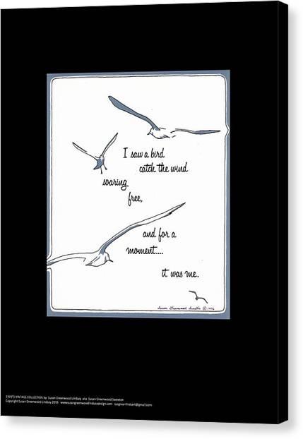 I Saw A Bird Catch The Wind Canvas Print