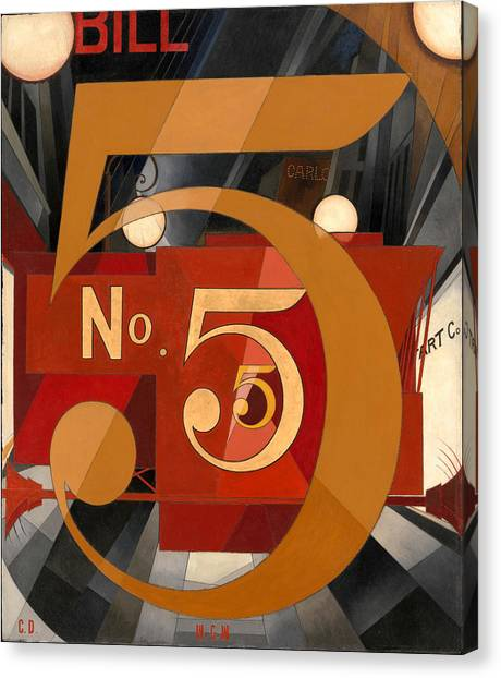 Precisionism Canvas Print - I Saw The Figure by Charles Demuth