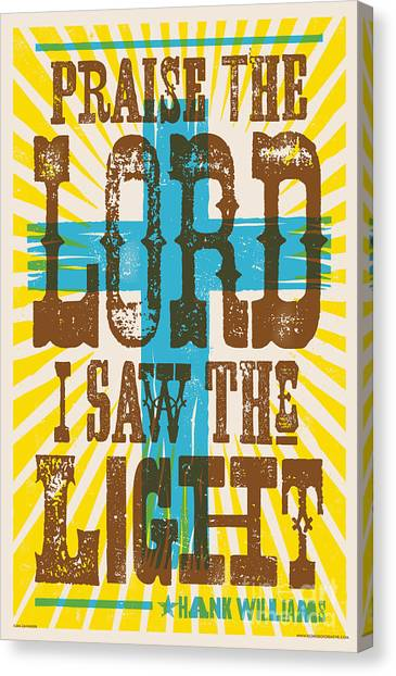 Saws Canvas Print - I Saw The Light Lyric Poster by Jim Zahniser