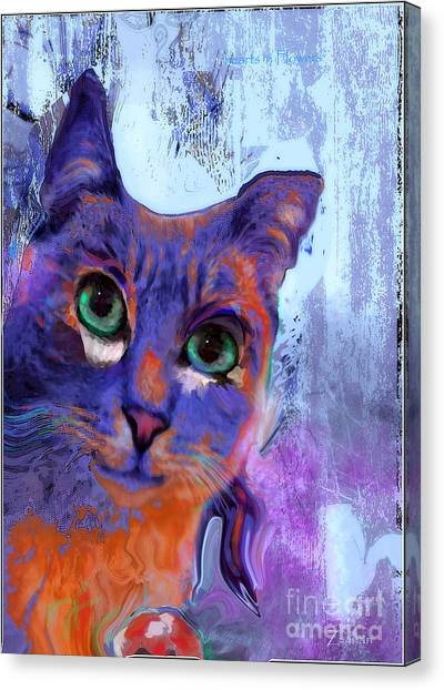 I See You Cat Canvas Print
