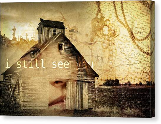 Creepy Canvas Print - I Still See You In My Dreams by Design Turnpike
