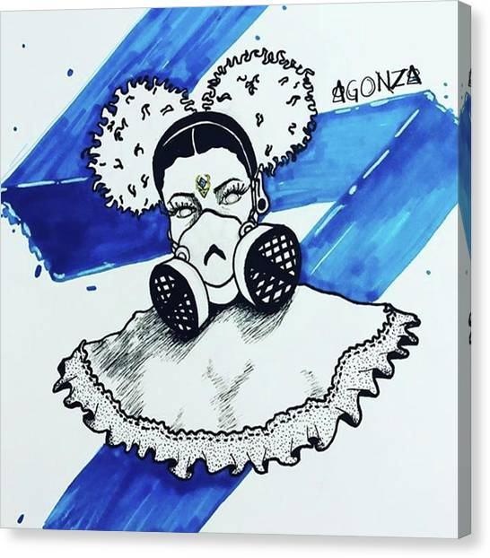 Tattoo Canvas Print - I Think It Needed At Least A Stroke Of by AGONZA Art