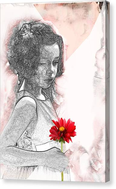 I Thought Of You Canvas Print