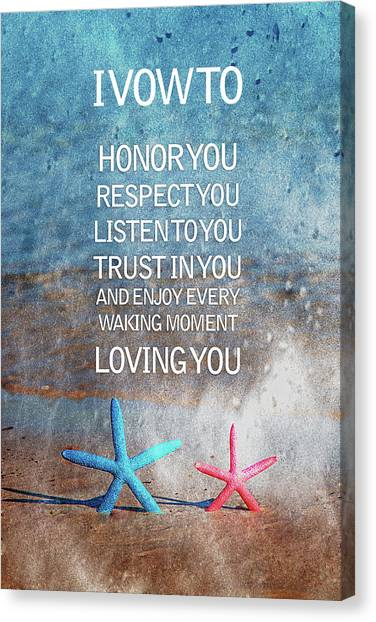 Starfish Canvas Print - I Vow To... by Az Jackson