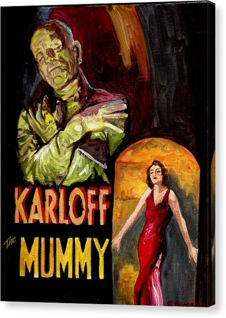 I Want My Mummy Canvas Print