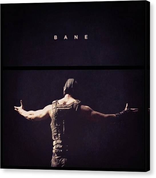 Knights Canvas Print - I Want This Framed! #bane #batman by Georgina Hassan