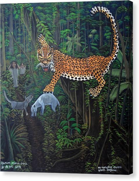 I Want To Live Jaguar Canvas Print by Kayum Ma'ax Garcia