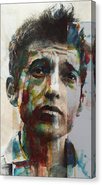 Bob Dylan Canvas Print - I Want You  by Paul Lovering