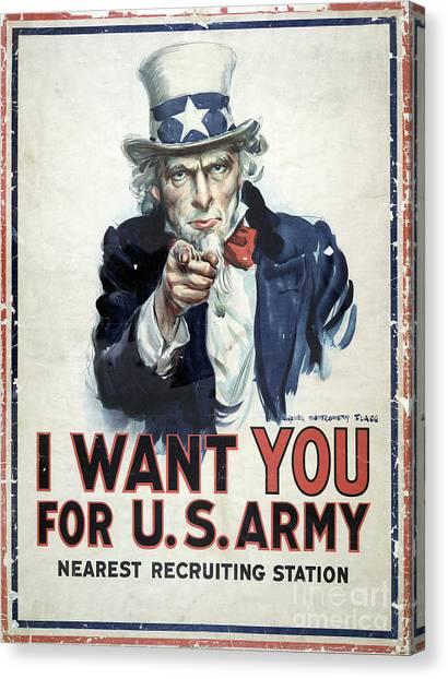Sailors Girl Canvas Print - I Want You Poster  1917 by Jon Neidert