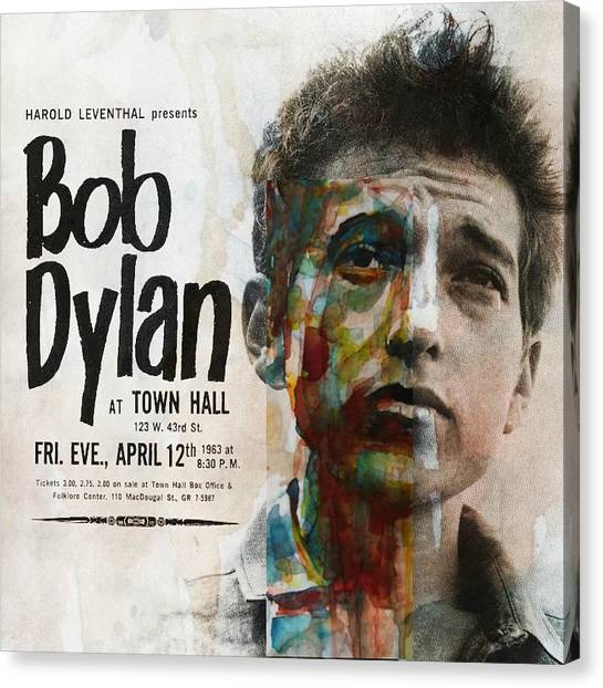 Bob Dylan Canvas Print - I Want You - Retro Poster  by Paul Lovering