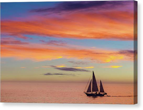 I Will Sail Away, And Take Your Heart With Me Canvas Print