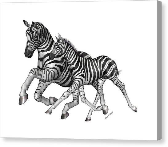 Zebras Canvas Print - I Will Take You Home by Betsy Knapp