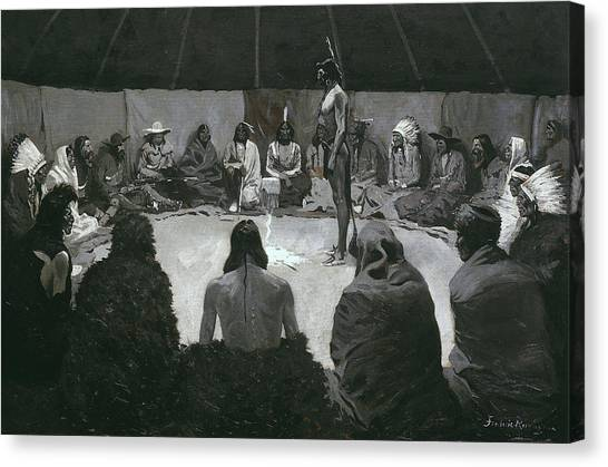 Indian Tents Canvas Print - I Will Tell The White Man by Frederic Remington & Indian Tents Canvas Prints | Fine Art America