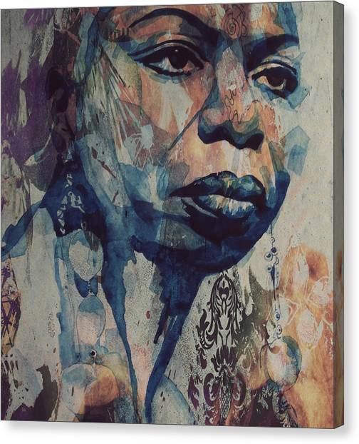 Rhythm And Blues Canvas Print - I Wish I Knew How It Would Be  Feel To Be Free by Paul Lovering