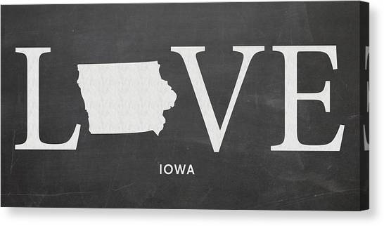 Iowa State University Canvas Print - Ia Love by Nancy Ingersoll