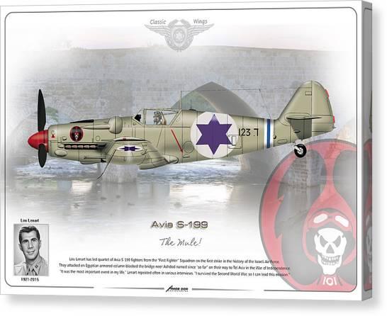 Iaf Avia S-199 Canvas Print