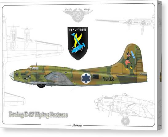 Iaf B-17 Flying Fortress Canvas Print