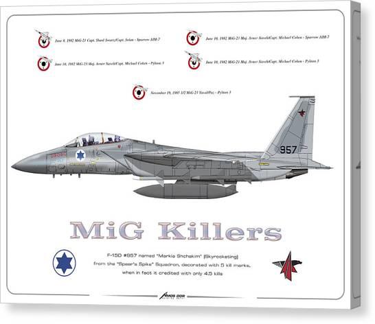 Iaf F-15d - Mig Killer Canvas Print