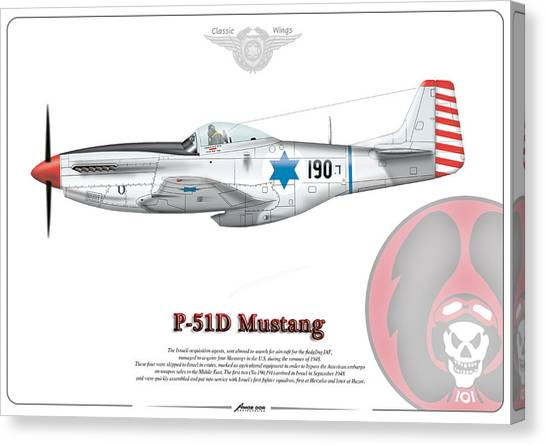 Iaf First P-51d Mustang Canvas Print