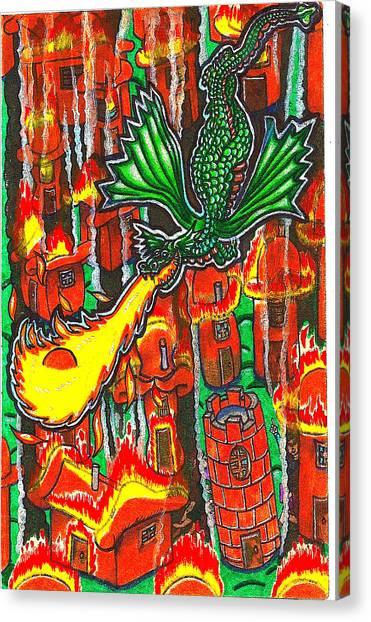 Iammyaza Attacks Tamarin Canvas Print