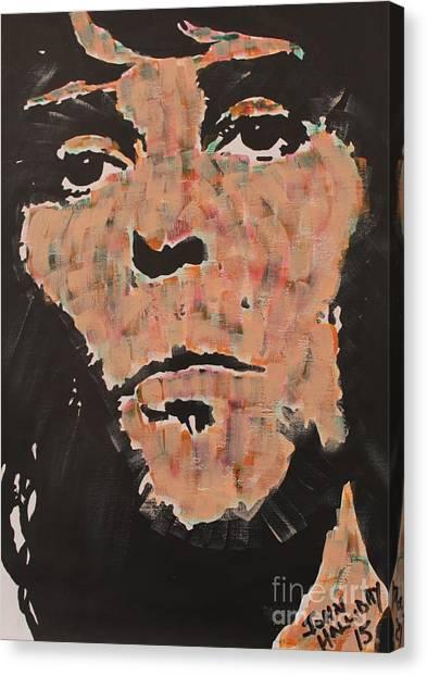 Ian Brown Stone Roses Canvas Print by John Halliday