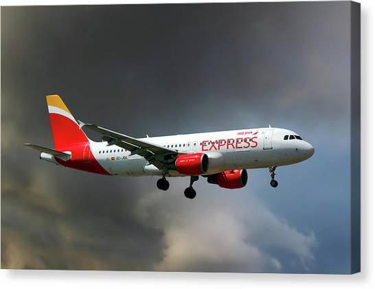 Madrid Canvas Print - Iberia Express Airbus A320-214 by Smart Aviation