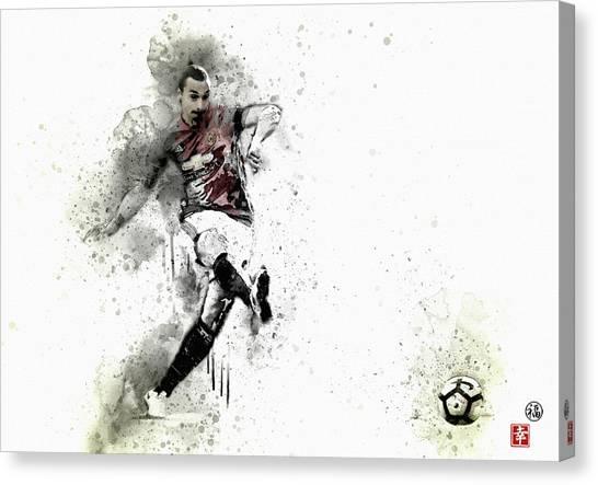 Wayne Rooney Canvas Print -  Ibra  by Don Kuing