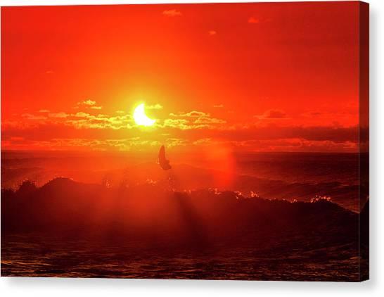 Solar Eclipse Canvas Print - Icarus Flip by Sean Davey