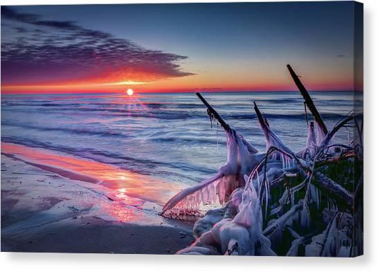 Ice Age Sunrise 1 Canvas Print