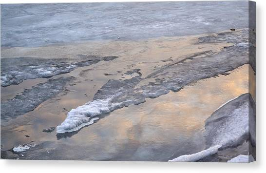 Ice And Clouds 2  Canvas Print