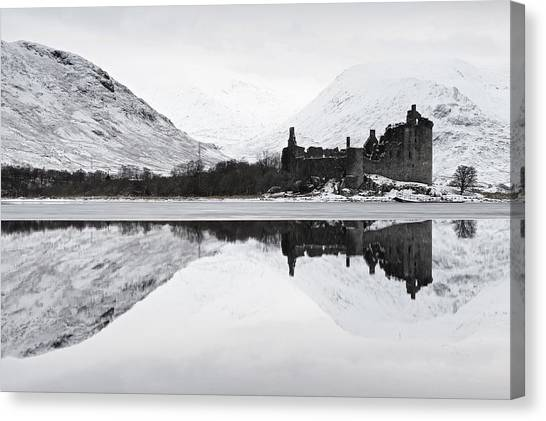 Ice And Snow At Loch Awe Canvas Print