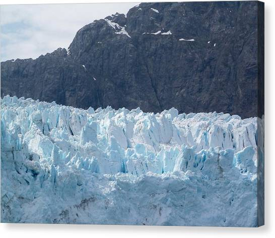 Margerie Glacier Canvas Print - Ice And Stone by Katie Beougher