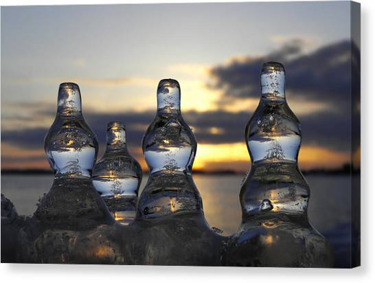 Canvas Print featuring the photograph Ice And Water 3 by Sami Tiainen