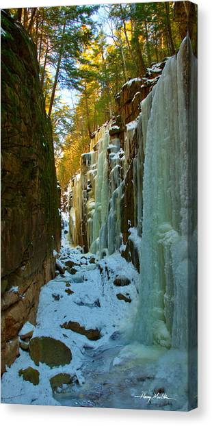 Ice At The Flume Canvas Print