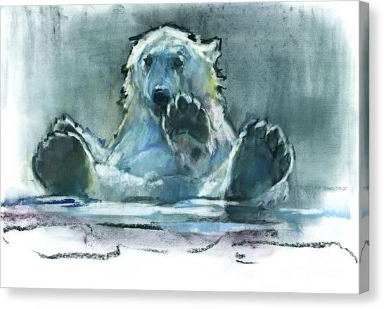 Bear Claws Canvas Print - Ice Bath by Mark Adlington