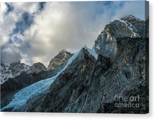 K2 Canvas Print - Ice Blue Changri Glacier by Mike Reid