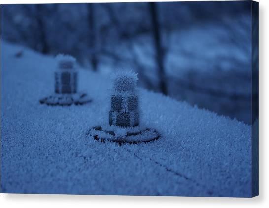 Ice Bolts Canvas Print
