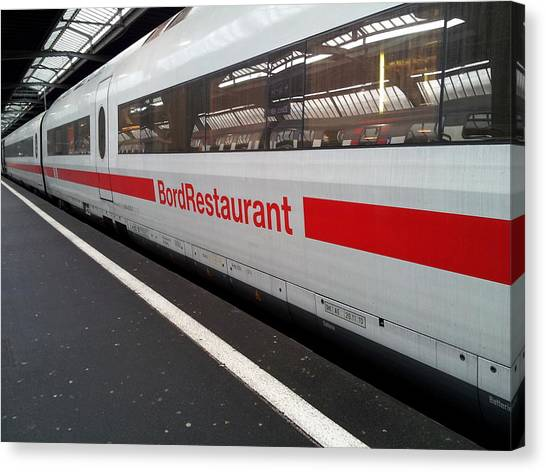 Ice Bord Restaurant At Zurich Mainstation Canvas Print